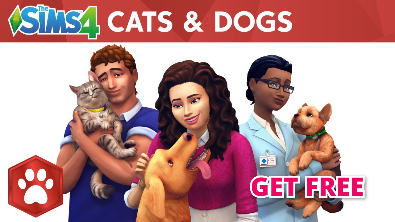 The Sims 4 Cats and Dogs Expansion pack for FREE!