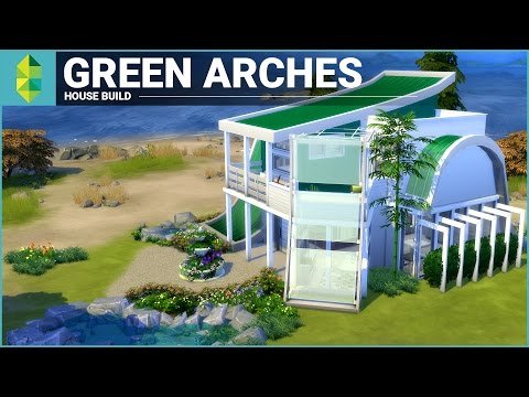 The Sims 4 House Building - Green Arches