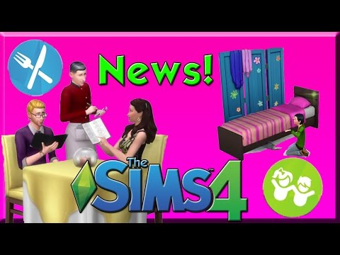 Sims 4 News! Restaurants GP and Kids Stuff Pack? MONSTERS!