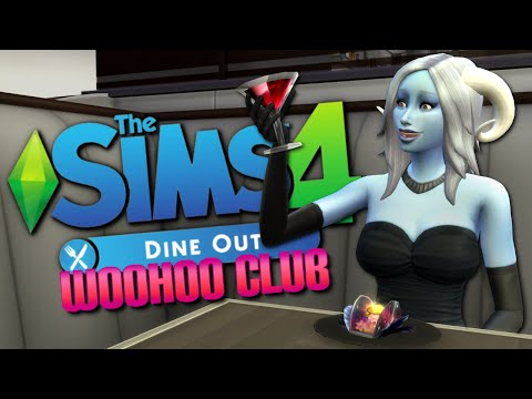 WOOHOO CLUB EATS OUT - Sims 4 Dine Out Gameplay - The Sims 4 Funny Highlights #71
