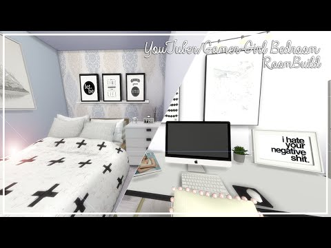 The Sims 4: Room Build | YouTuber/Gamer-Girl Bedroom + Download!