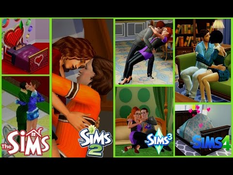 WOOHOO HUGS AND KISSES The Sims  1 to The Sims  4 GAME EVOLUTION