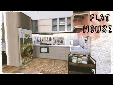 Sims 4 - Flat House (Build & Decoration for download Part2)
