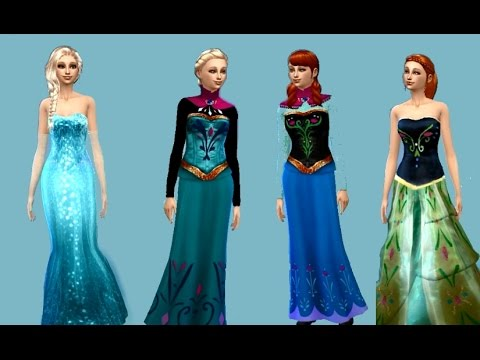 Sims 4 ~ Create a sim ~ Frozen (With CC)
