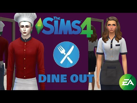 HUGE DINE OUT GLITCH (or something) ☁️ The Sims 4: Dine Out CAS & Build Showcase