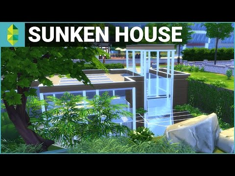 The Sims 4 House Building - Sunken House (w/ Deligracy)