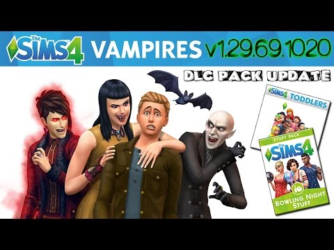 The Sims 4 (v1.29.69.1020) DLC Pack Update (Vampires, Bowling Night Stuff, Toddlers)