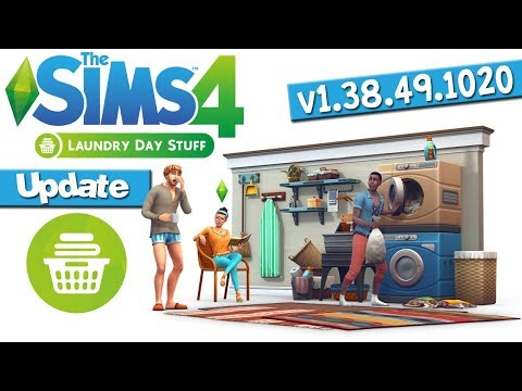 The Sims 4 (v1.38.49.1020) Laundry Day Stuff (Update)