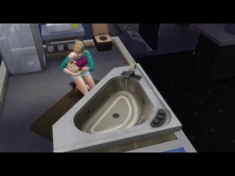 The Sims 4 Cats & Dogs bathing glitch