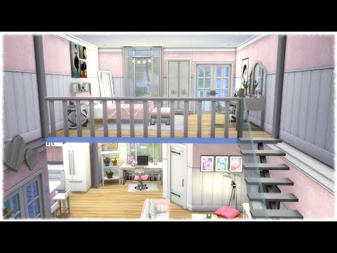 The Sims 4 Speed Build Girly Loft Sims 4 Stuff