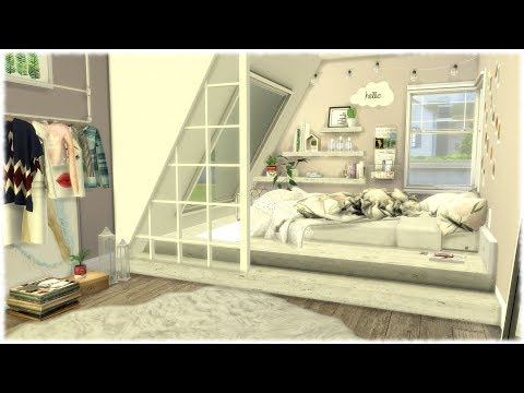The Sims 4: Speed Build // TUMBLR BEDROOM + CC Links
