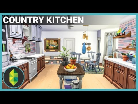 Country Styled Kitchen (Sims 4 Build)