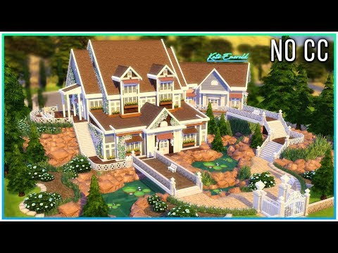 Sims 4 Speed Build - Scenic Family Mansion w/ Terrain Tools | Kate Emerald