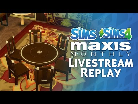 Maxis Monthly Livestream Replay: The Sims 4 Update Preview + The Sims Franchise Anniversary