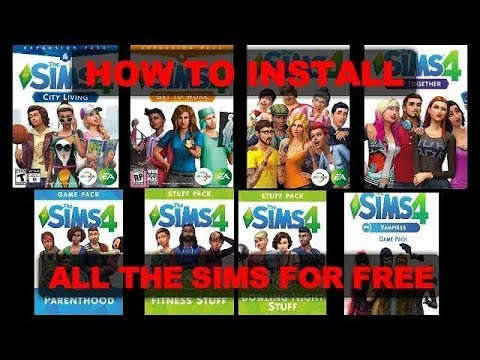 HOW TO DOWNLOAD ALL THE SIMS 4 GAMES FOR FREE | UPDATED | KarmaTastic