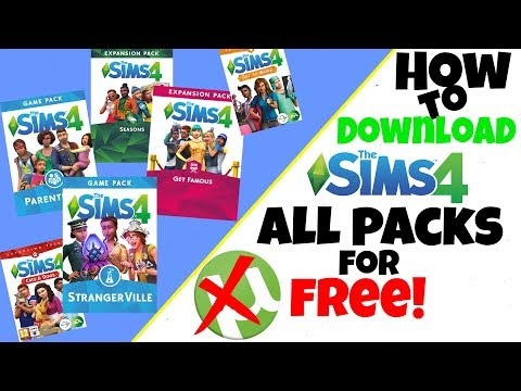 How to Install The Sims 4 All Packs | 2019 | FREE | NO TORRENT | Own Base Game