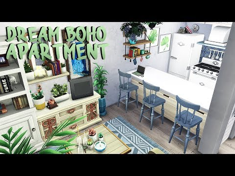 BOHO ROOMMATES DREAM APARTMENT   The Sims 4   Apartment ...