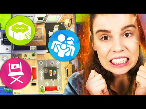 Every room is a random pack in The Sims 4... build challenge!