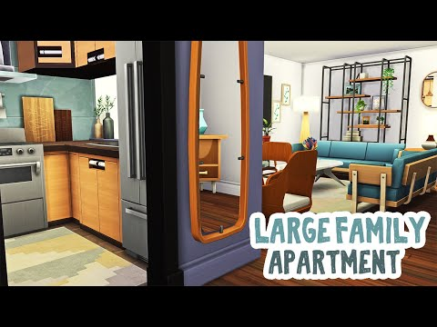 Large Family Apartment || The Sims 4 Apartment Renovation: Speed Build