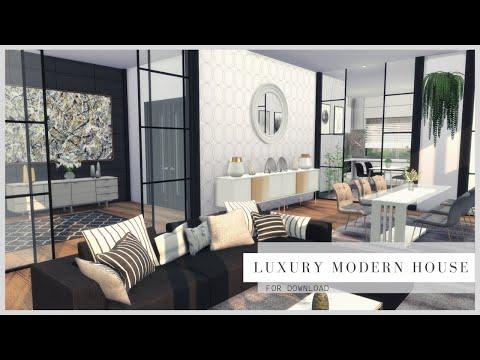 LUXURY MODERN HOUSE + DOWNLOAD + TOUR + CC CREATORS   The Sims 4   PART2