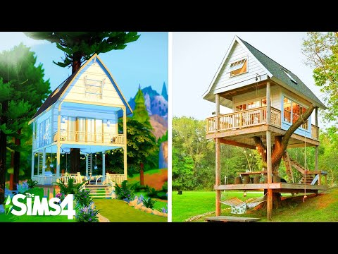 TINY TREE HOUSE ~ Curb Appeal Recreation: Sims 4 Speed Build (no CC)