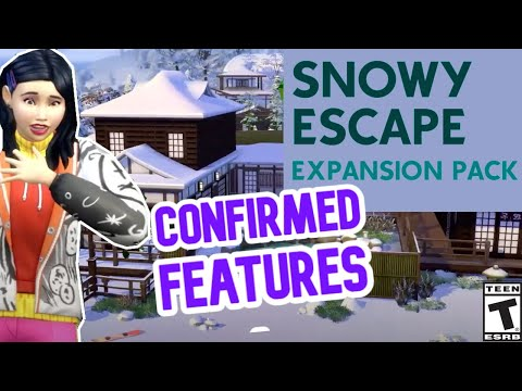 GAME PACK OR EXPANSION? SNOWY EXCAPE FEATURES- SIMS 4 NEWS 2020