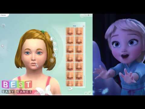 ღ Disney Princess Baby Elsa   The Sims 4 Create a Sim