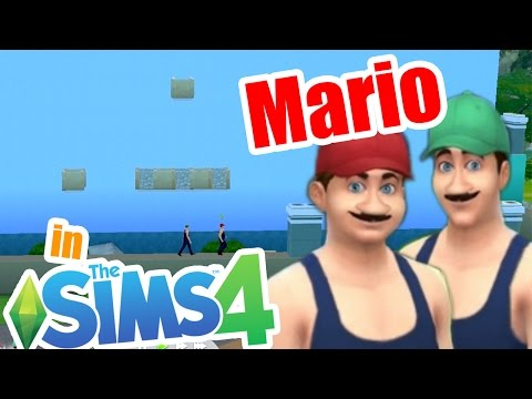 Playing Mario in sims 4