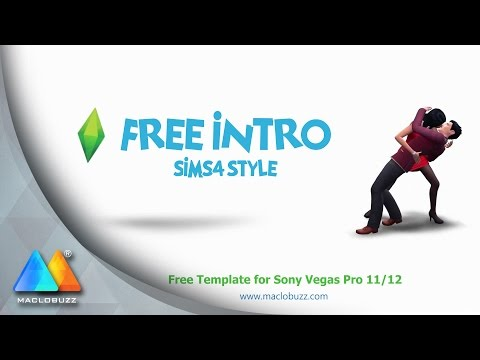 Sims 4 Style Intro - FREE Template (Sony Vegas Pro 11/12)