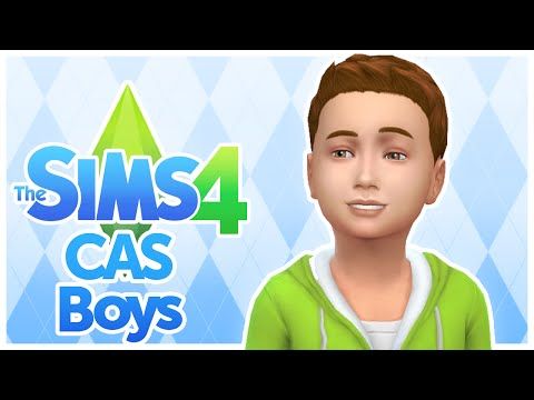 The Sims 4 - Kids / Children CAS - Boys Clothing, Hair, and Traits - Create A Sim