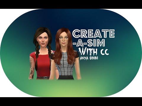 The Sims 4 : CAS with CC | Autumn Mood | Anya Simm