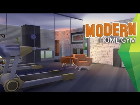 The Sims 4 | Room Build | Modern Home Gym (Sped Up)