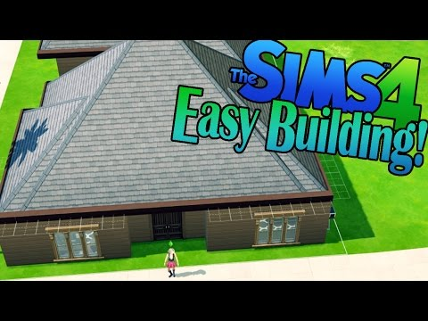 Sims 4 - Easy Build Mode! Pre-Made Room Home! (Sims 4 Build a House!)